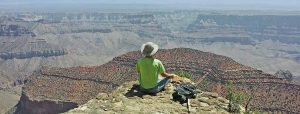 Michael Feerer overlooking the Grand Canyon